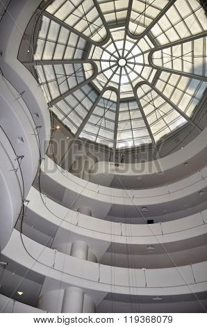 Spectacular Glass Ceiling & Spiral Walls Of Museum