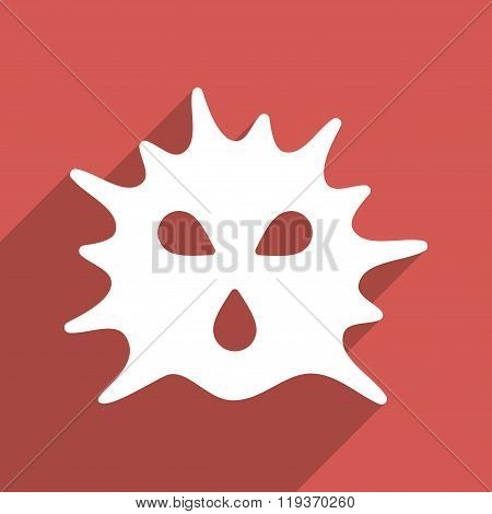 Virus Structure Flat Longshadow Square Icon
