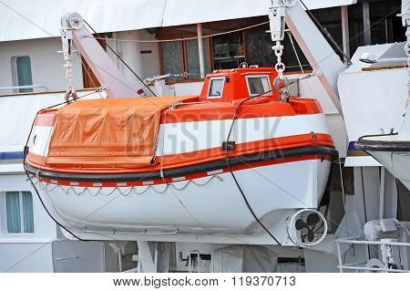 Safety Lifeboat On Deck