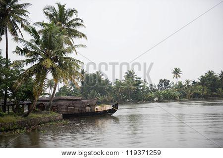 Houseboats Sailing on Lake