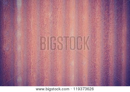 Rusty Galvanized Iron Plate, Texture, Background, Vintage Effect