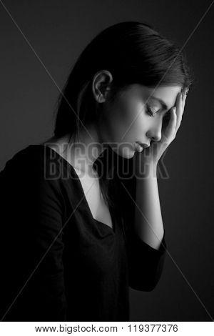 Depression concept â?? sad teen woman