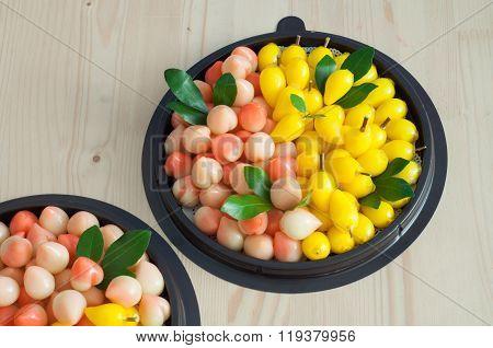 Delectable Imitation Fruits, Thai National Dessert.