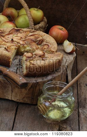 Charlotte With Apples, Cinnamon And Honey