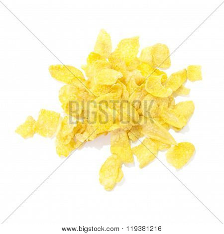 Golden Corn Flake Breakfast Meal Top View