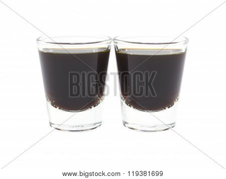 Coffee Espresso Double In Glass Shot