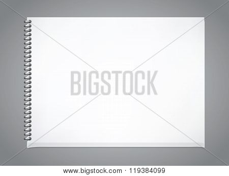Notepad horisontal blank template