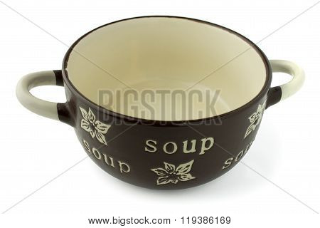 Soup Crock Bowl isolated