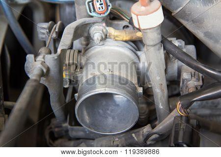 carburetor of old car