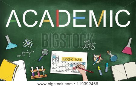 Academic Studying Chemistry Graphic Concept