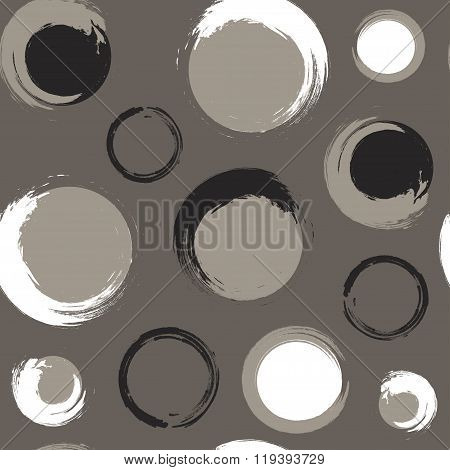 Grunge circles on grey-brown or taupe background