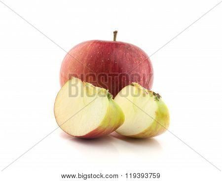 single red apple with lobule