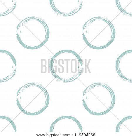 Light greenish blue grunge circles on white background