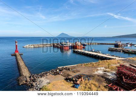 Harbor In Kota Manado City, Indonesia