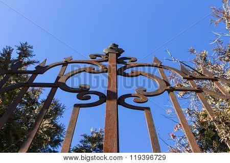 Rusting Cast Iron Railing
