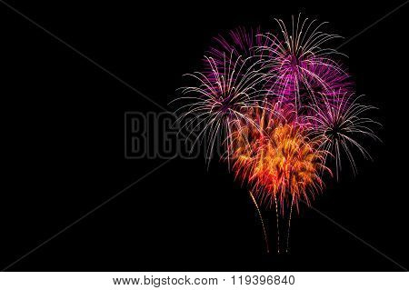 Isolated fireworks display