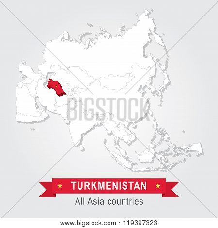 Turkmenistan. All the countries of Asia.