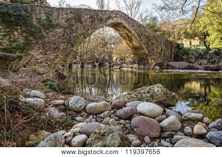 Genoese Bridge At Piana In Corsica