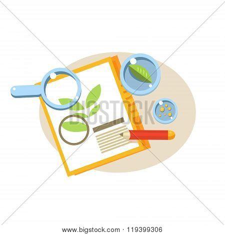 Botanical Paper. Education Design Vector Illustration