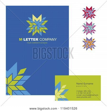 Template corporate company signs M-letter_logo_02