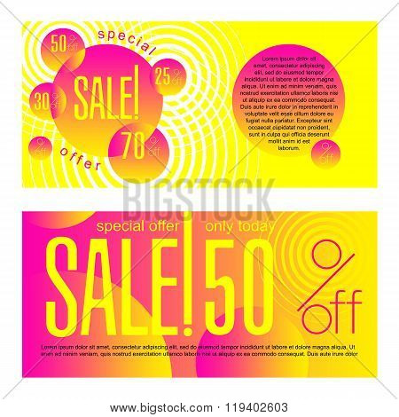 Design template with abstract background - Sale_02