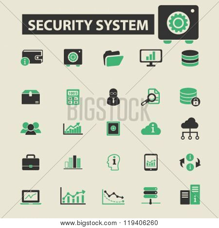 security system icons, security system logo, security system vector, security system flat illustration concept, security system infographics, security system symbols,