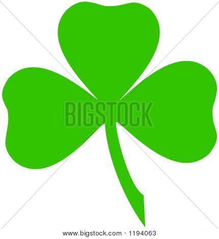 Green Irish Shamrock