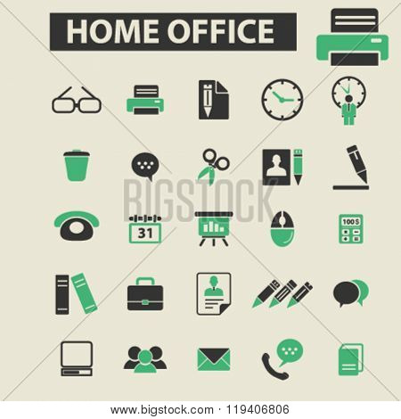 home office icons, home office logo, home office vector, home office flat illustration concept, home office infographics, home office symbols,