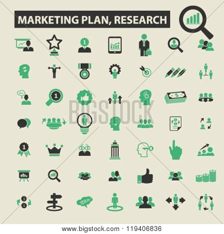 marketing plan, research icons, marketing plan, research logo, marketing plan, research vector, marketing plan, research flat illustration concept, marketing plan, research infographics,