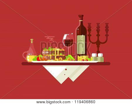 Dinner food restaurant
