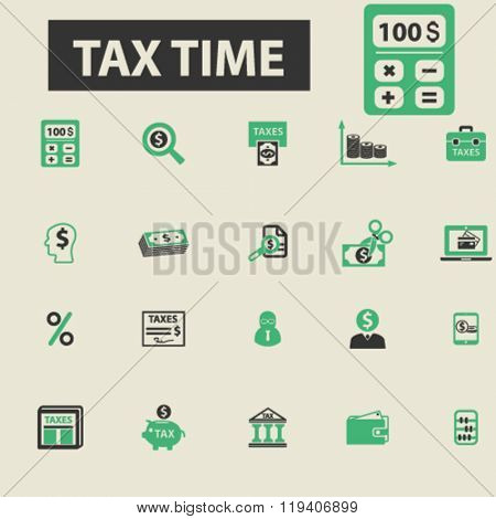 tax time icons, tax time logo, tax time vector, tax time flat illustration concept, tax time infographics, tax time symbols,