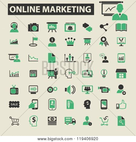 online marketing icons, online marketing logo, online marketing vector, online marketing flat illustration concept, online marketing infographics, online marketing symbols,