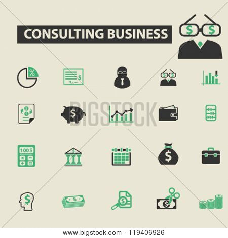 consulting business icons, consulting business logo, consulting business vector, consulting business flat illustration concept, consulting business infographics, consulting business symbols,