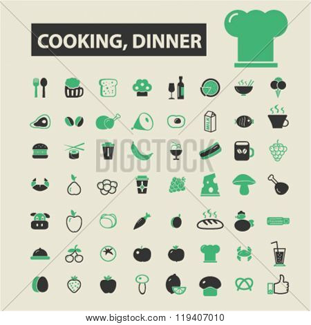 cooking, dinner icons, cooking, dinner logo, cooking, dinner vector, cooking, dinner flat illustration concept, cooking, dinner infographics, cooking, dinner symbols,