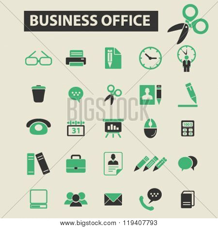 business office icons, business office logo, business office vector, business office flat illustration concept, business office infographics, business office symbols,