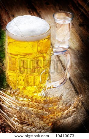 Beer, Liquor And Wheat