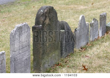 Row Of Old Tombstones