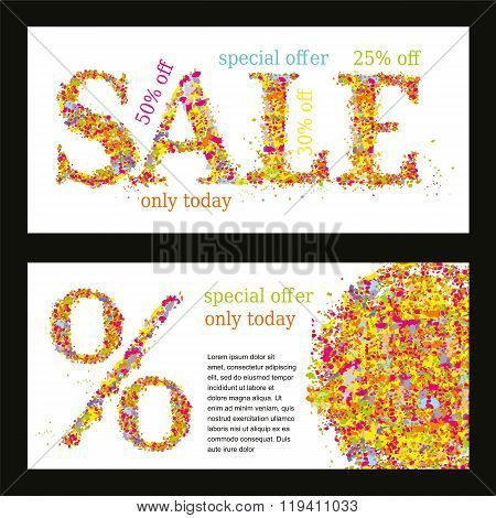 Design template with abstract background - Sale_05