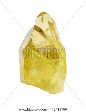 Citrine Crystals On A White Background