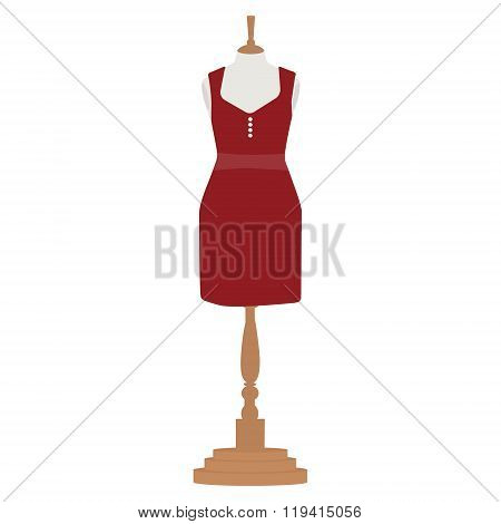 Woman Dress On Mannequin