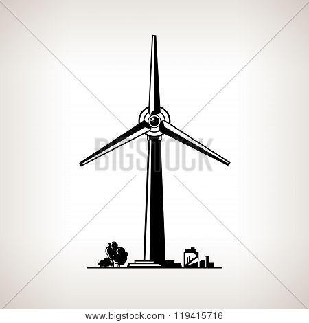 Silhouette Wind Turbine