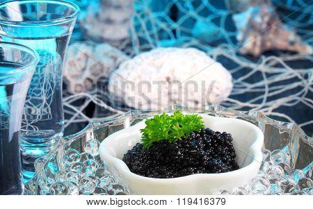 Fish Restaurant, Caviar And Vodka