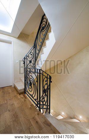 Superb design of staircase in modern interior