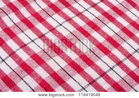 Red checkered cloth