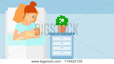Woman in maternity ward.