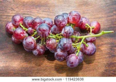 grape on the wooden table