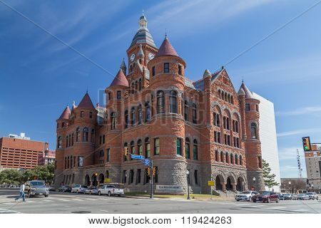Dallas, Tx/usa - Circa February 2016: Old Red Museum, Formerly Dallas County Courthouse In Dallas,