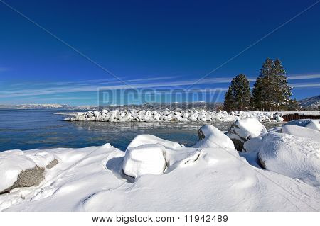 Blue Sky Over Lake Tahoe