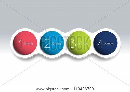 4 Steps Element Bubble Chart.