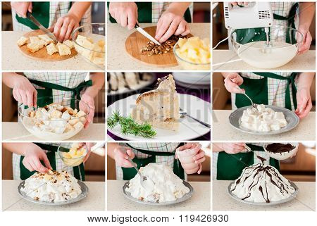 A Step By Step Collage Of Making Pancho Cake